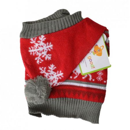 Lookin Good Holiday Dog Sweater - Red alternate view 1