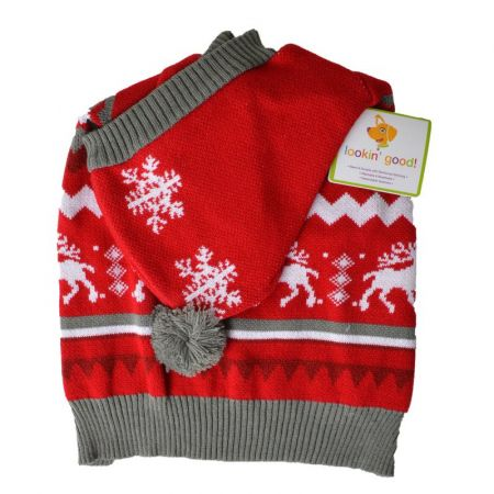Lookin Good Holiday Dog Sweater - Red alternate view 2