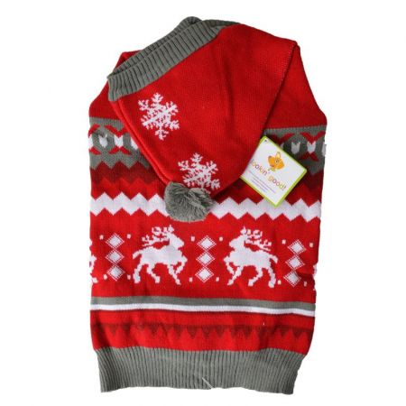 Lookin Good Holiday Dog Sweater - Red alternate view 3