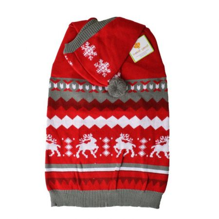 Lookin Good Holiday Dog Sweater - Red alternate view 4
