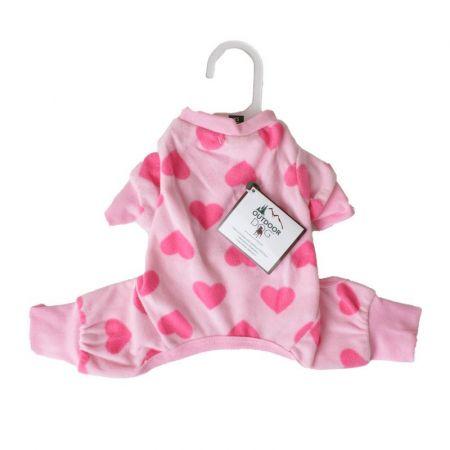 Fashion Pet Lookin Good Heart Fleece Dog Pajamas - Pink