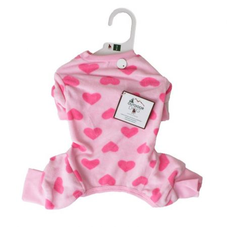 Lookin Good Heart Fleece Dog Pajamas - Pink alternate view 2