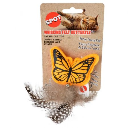 Spot Spot Whiskins Felt Butterfly with Catnip - Assorted Colors