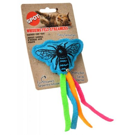 Spot Spot Whiskins Felt Streamer with Catnip - Assorted Colors