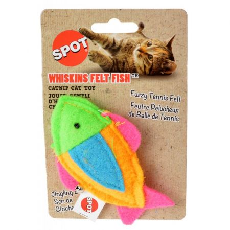 Spot Spot Whiskins Felt Fish wth Catnip - Assorted Colors