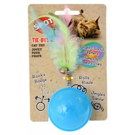 Spot Spot Tie Dye Roller Ball Cat Toy - Assorted Colors