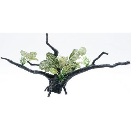 Penn Plax Penn Plax Driftwood Plant - Green - Wide