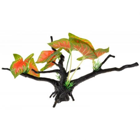 Penn Plax Driftwood Plant - Green & Red - Wide
