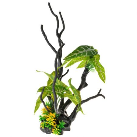 Penn Plax Driftwood Plant - Green - Tall alternate view 1