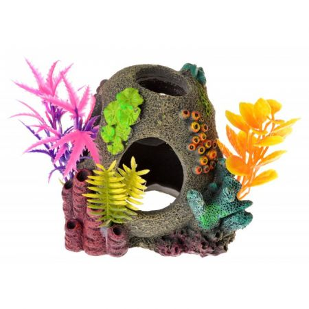 Blue Ribbon Pet Products Exotic Environments Sunken Orb Floral Ornament
