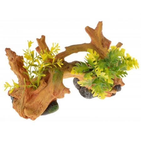 Blue Ribbon Pet Products Exotic Environments Driftwood Centerpiece with Plants - Small