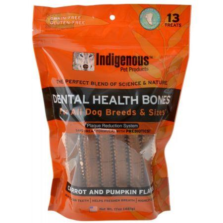 Indigenous Pet Products Indigenous Dental Health Bones - Carrot & Pumpkin Flavor