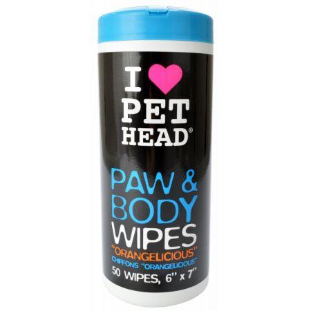 Pet Head Paw & Body Wipes - Orangelicious