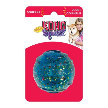 KONG Squeezz Confetti Ball Dog Toy alternate view 3
