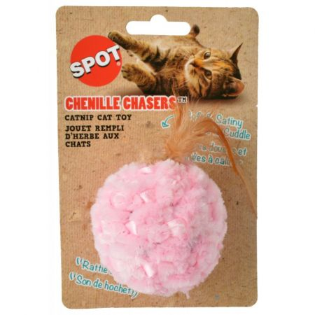 Spot Spot Chenille Chasers Catnip Cat Toy - Assorted Colors