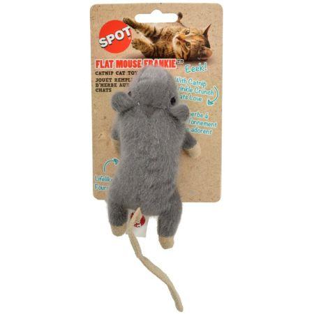 Spot Spot Flat Mouse Frankie Catnip Toy - Assorted Colors