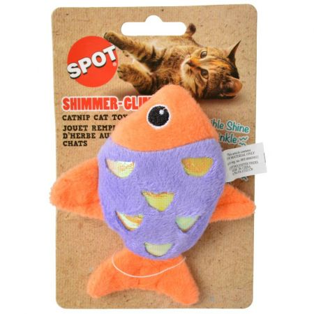Spot Spot Shimmer Glimmer Fish Catnip Toy - Assorted Colors