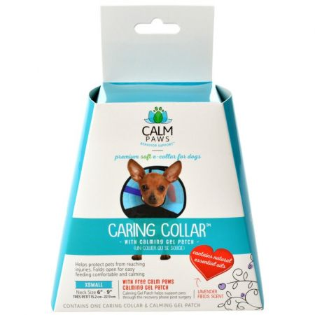 Calm Paws Caring Collar with Calming Gel Patch for Dogs alternate view 1