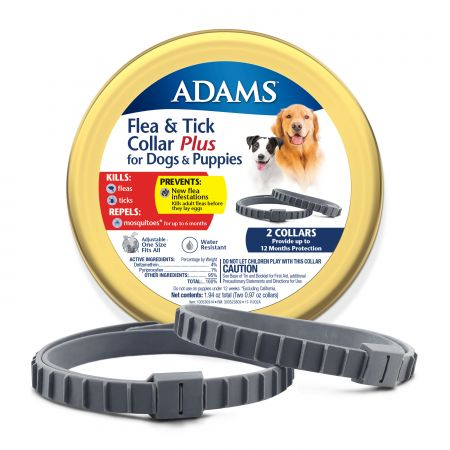 Adams Flea & Tick Collar Plus for Dogs & Puppies