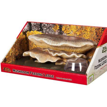 Zilla Mushroom Feeding Ledge Reptile Decor