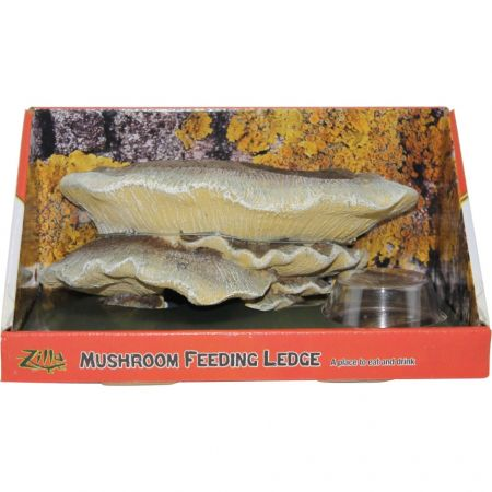 Zilla Zilla Mushroom Feeding Ledge Reptile Decor