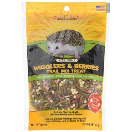 Vitakraft Sunseed Vita Prima Wigglers & Berries Trail Mix Hedgehog Treat