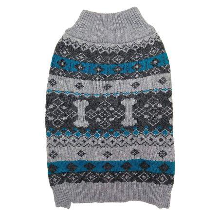 Fashion Pet Nordic Knit Dog Sweater - Gray alternate view 2