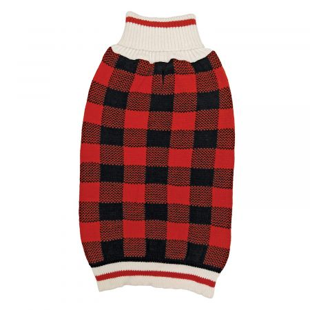 Fashion Pet Plaid Dog Sweater - Red alternate view 1