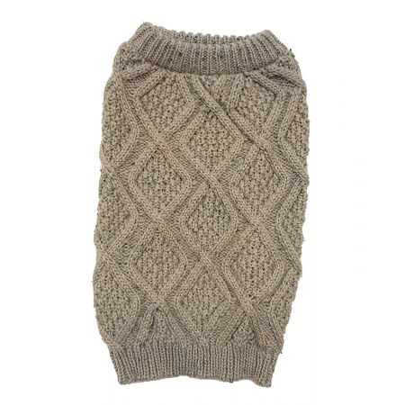 Outdoor Dog Fisherman Dog Sweater - Taupe alternate view 1