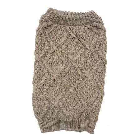 Fashion Pet Outdoor Dog Fisherman Dog Sweater - Taupe