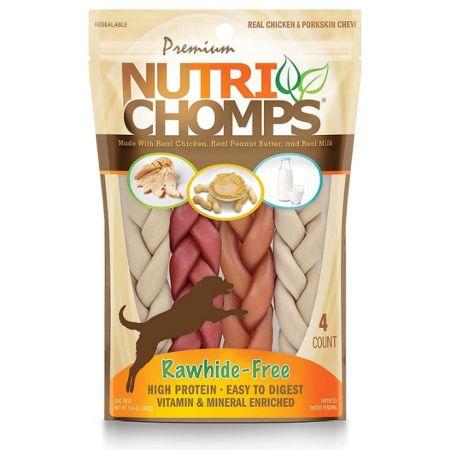 Scott Pet Premium Nutri Chomps Assorted Flavor Braid Dog Chews - Small