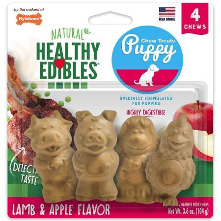 Nylabone Natural Healthy Edibles Puppy Chew Treats - Lamb & Apple Flavor