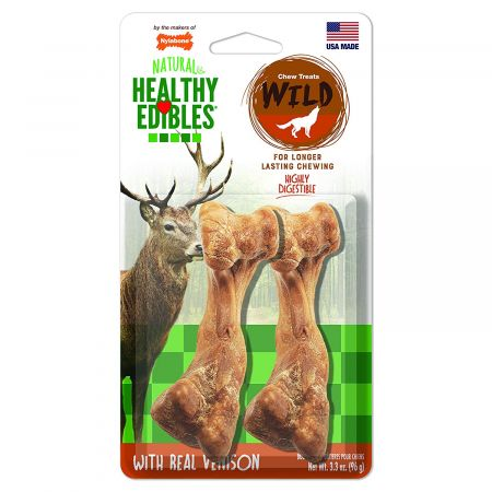 Nylabone Natural Healthy Edibles Wild Venison Chew Treats alternate view 2