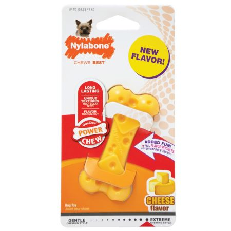 Nylabone Power Chew Cheese Bone Dog Toy