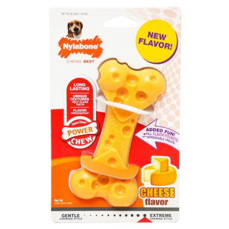 Nylabone Power Chew Cheese Bone Dog Toy alternate view 2