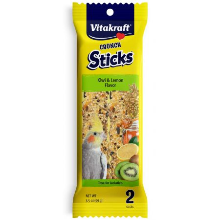 Vitakraft Crunch Sticks Kiwi & Lemon Cockatiel Treats