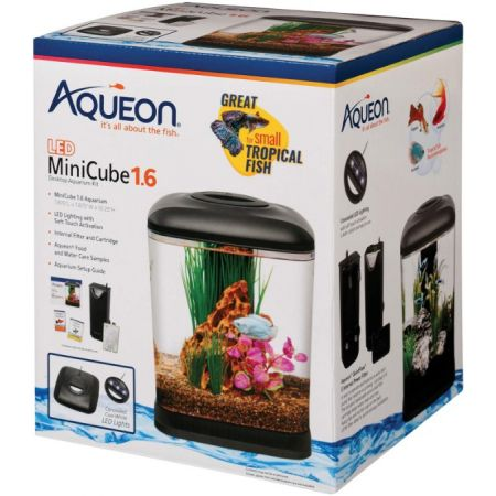 Aqueon Mini Cube LED Aquarium Kit - Black