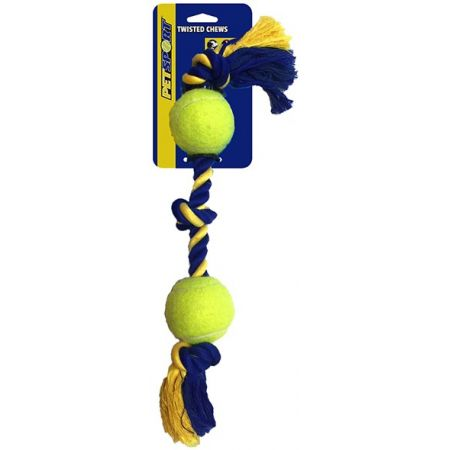 Petsport Medium 3-Knot Cotton Rope with Tuff Ball alternate view 2