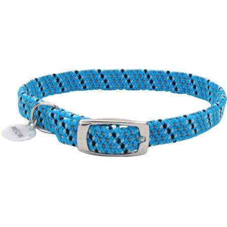 Coastal Pet Coastal Pet Elastacat Reflective Safety Collar with Charm Blue/Black