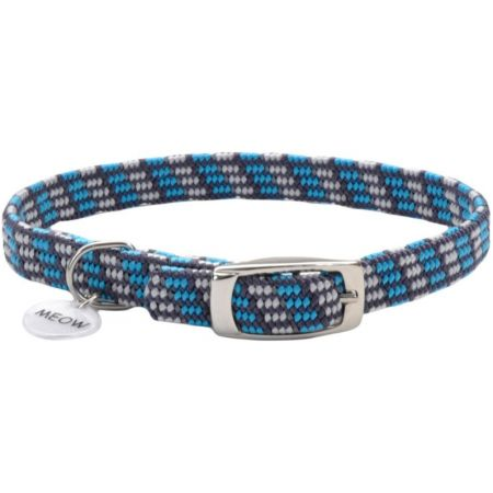 Coastal Pet Coastal Pet Elastacat Reflective Safety Collar with Charm Grey/Blue