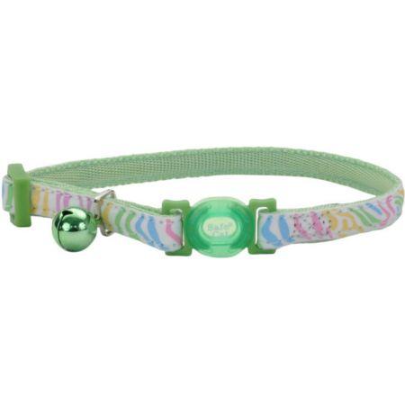 Coastal Pet Safe Cat Glow in the Dark Adjustable Collar Green Stripe