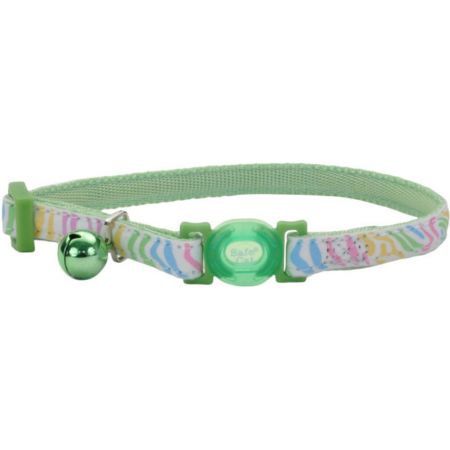 Coastal Pet Coastal Pet Safe Cat Glow in the Dark Adjustable Collar Green Stripe