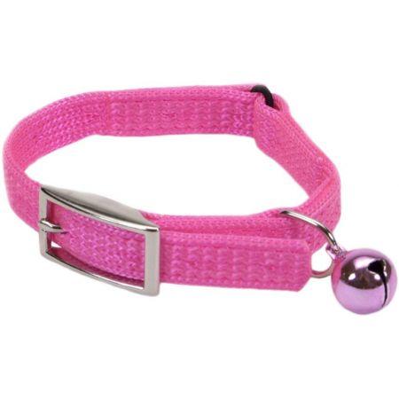Coastal Pet Sassy Snagproof Nylon Safety Cat Collar Neon Pink alternate view 2