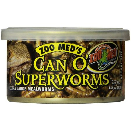 Zoo Med Zoo Med Can O Superworms Extra Large Mealworms
