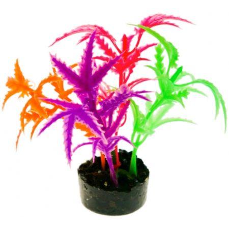 Blue Ribbon Pet Products Blue Ribbon Colorburst Florals Multi-colored Jagged Sword Aquarium Decor