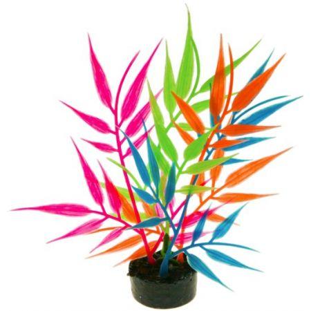 Blue Ribbon Pet Products Blue Ribbon Colorburst Florals Multi-colored Needle Leaf Aquarium Decor