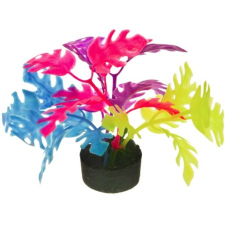 Blue Ribbon Colorburst Florals Multi-colored Philo Leaf Aquarium Decor