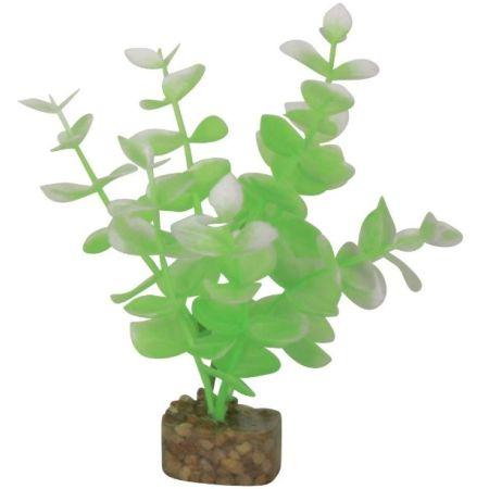 GloFish Plastic Aquarium Plant Green / White