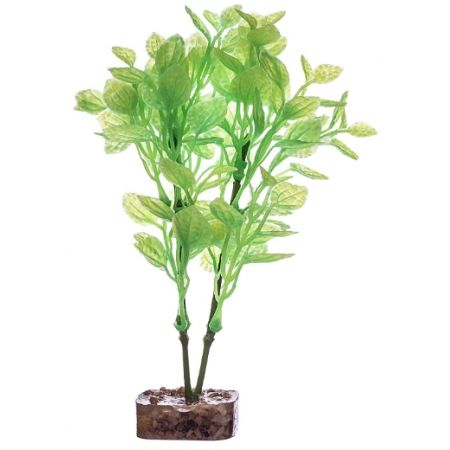 GloFish Plastic Aquarium Plant Green / Yellow alternate view 2