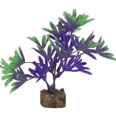 GloFish Plastic Aquarium Plant - Purple/Green